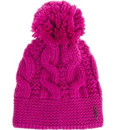 Вязаная шапка цвета фуксии с помпоном Capo