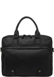 Черная сумка на молнии из натуральной кожи Gianni Conti