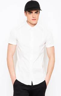Белая рубашка с короткими рукавами Armani Jeans