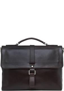 Темно-коричневый портфель из натуральной кожи Picard