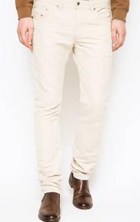 Зауженные джинсы молочного цвета Diesel