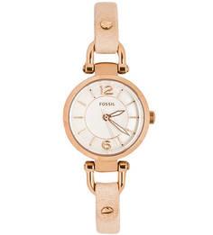 Часы с тонким кожаным браслетом Fossil