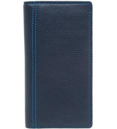 Синее портмоне из натуральной кожи Sergio Belotti