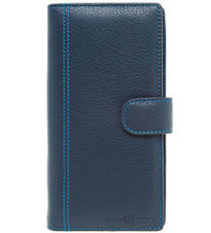 Темно-синее портмоне из натуральной кожи Sergio Belotti