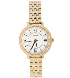 Часы с тонким металлическим браслетом Fossil