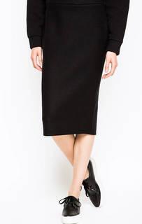 Шерстяная юбка черного цвета Iceberg