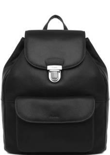Черный кожаный рюкзак с клапаном Picard