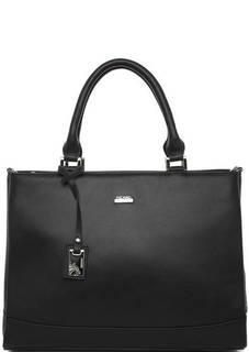Черная сумка из натуральной кожи на молнии Picard