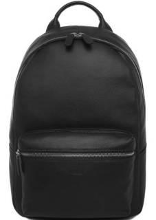 Черный кожаный рюкзак с одним отделом Picard