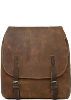 Коричневый кожаный рюкзак Aunts & Uncles