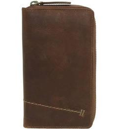 Коричневый кожаный кошелек Aunts & Uncles