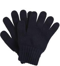 Синие вязаные перчатки Barbour