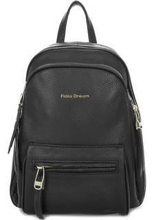 Черный кожаный рюкзак с карманами Fiato Dream