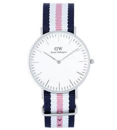 Часы с текстильным браслетом в полоску Daniel Wellington