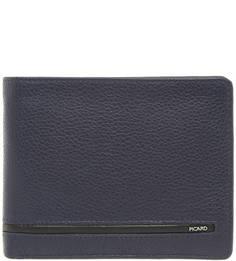 Синее портмоне из натуральной кожи Picard