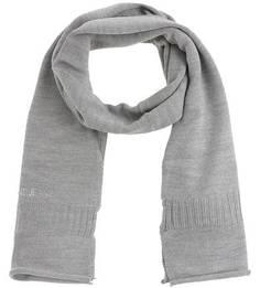 Серый шарф из акрила и шерсти Armani Jeans
