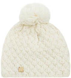 Вязаная шапка из акрила и шерсти молочного цвета R.Mountain