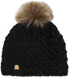 Однотонная вязаная шапка с помпоном R.Mountain