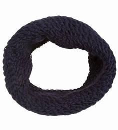 Синий вязаный шарф-хомут R.Mountain
