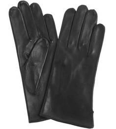 Черные кожаные перчатки без подкладки Bartoc