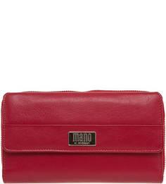 Красный кошелек на молнии Mano