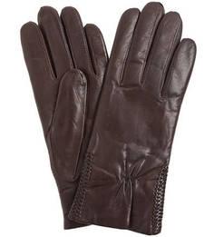 Коричневые кожаные перчатки Bartoc