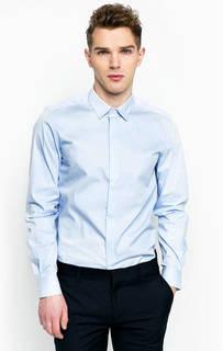 Голубая рубашка из хлопка Antony Morato