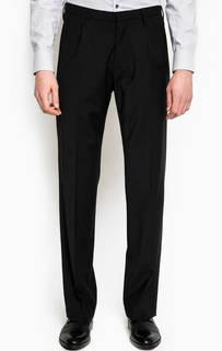 Прямые черные брюки из шерсти Drykorn