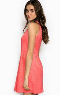 Коралловое платье без рукавов Kocca