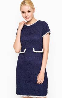 Синее платье с контрастной отделкой Darling