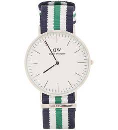 Часы с текстильным ремешком в полоску Daniel Wellington