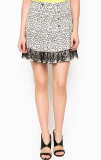 Короткая юбка с кружевной отделкой Pinko