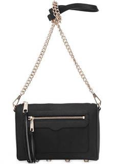 Маленькая кожаная сумка черного цвета Rebecca Minkoff