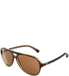 Солнцезащитные очки с коричневыми линзами Emporio Armani