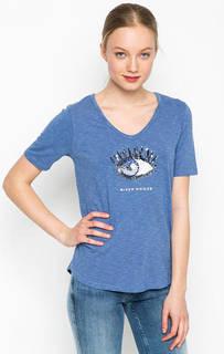 Синяя футболка с отделкой пайетками River Woods