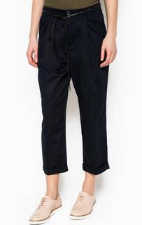 Темно-синие укороченные брюки Maison Scotch