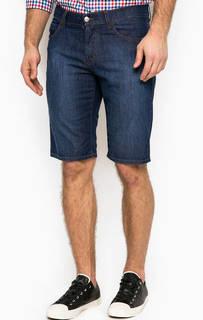 Синие джинсовые шорты Bikkembergs