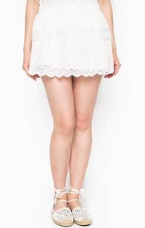 Короткая белая юбка D&S Ralph Lauren