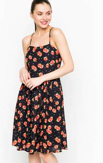Черное платье на тонких бретелях Sugarhill Boutique