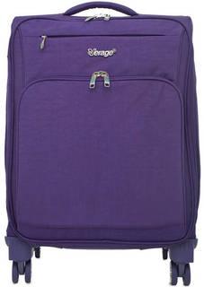Фиолетовый текстильный чемодан на колесах Verage