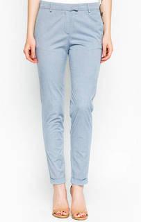 Голубые хлопковые брюки с отворотами 18 Crr81 Cerruti