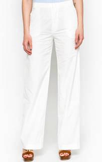 Широкие белые брюки из хлопка Marc Opolo