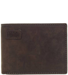 Коричневый кожаный портмоне Mano