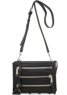 Черная кожаная сумка через плечо Rebecca Minkoff