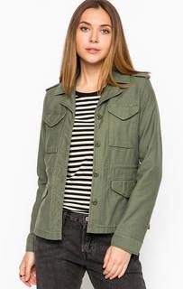 Хлопковая куртка цвета хаки с накладными карманами Levis®