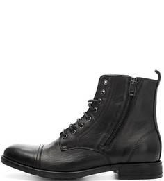 Высокие черные ботинки на молнии Diesel