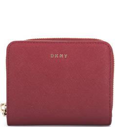 Кожаный кошелек с одним отделом для купюр Dkny