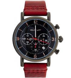 Часы с хронографом и кожаным ремешком Gant