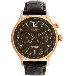 Кварцевые часы с кожаным ремешком Gant