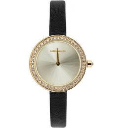 Часы с отделкой кристаллами Swarovski Karen Millen